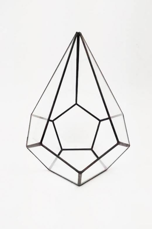 """Флорариум """"вытянутая капля додекаэдра"""" размер L"""