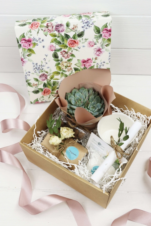 Подарочный набор Creative Succulens BOX №18