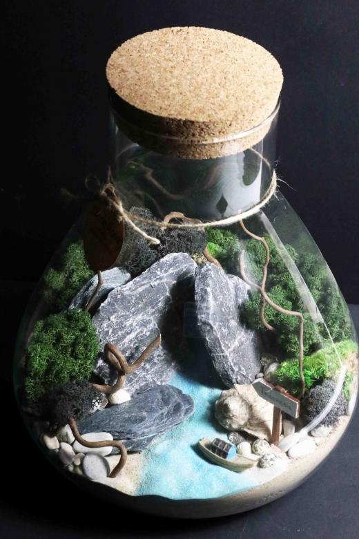 Мохнариум в стеклянной колбе С007
